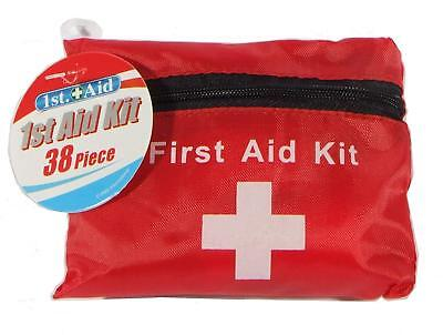 38 Piece Emergency First Aid Kit Car Bike Home Medical Camping Office Travel