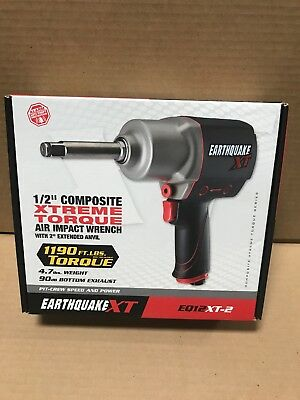 """EARTHQUAKE XT 1/2"""" Composite XTREME TORQUE Air Impact Wrench- New In Box"""