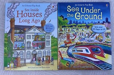 Usborne Flap Books See Inside Houses Long Ago And See Under The Ground