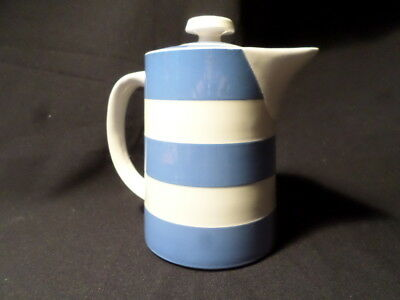 T.G. Green. Cornishware. Coffee Pot. Made In England.
