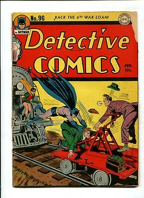 Detective Comics #96 VINTAGE Batman DC Comic Golden Age 10c Robin