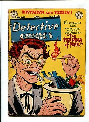Detective Comics #143 VINTAGE Batman DC Comic Golden Age 10c Robin