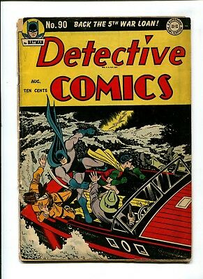 Detective Comics #90 VINTAGE Batman DC Comic Golden Age 10c Robin