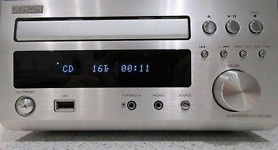 Denon Rcd-M37Dab Fm Cd Usb Receiver Silver, Beautiful Condition D-M37 60W Stereo