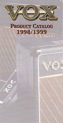 1998/1999 Vox Guitar and Amp Catalog. Full Color. Six Page Foldout.