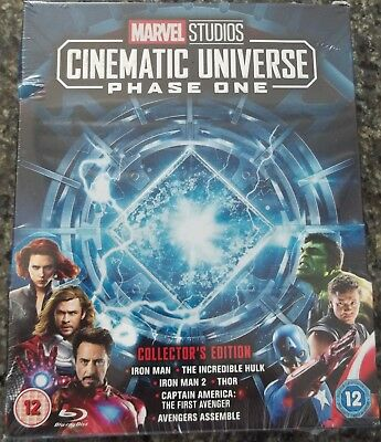 Marvel Studios Cinematic Universe Phase One Collector's Edition Box Set Blu-Ray.