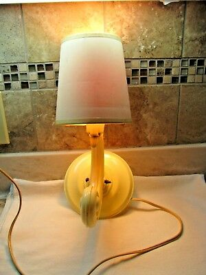 Antique Celluloid Art Deco Wall Sconce Light Fixture - Adjustible-With Shade