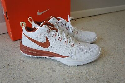 buy online 027fa 0a2a3 DS 2014 Nike Lunar Trainer TR1 NRG Texas Longhorns Orange White size 11 NEW