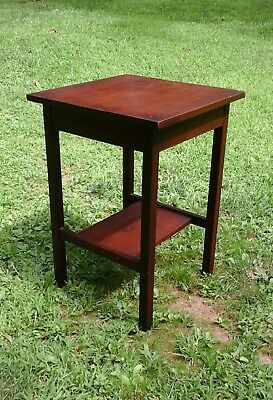 Mission Oak Side Table Stand