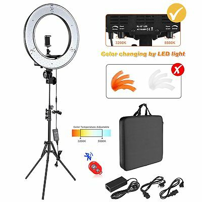 """12"""" SMD LED Ring Light Dimmable 5500K Continuous Lighting Photo Video Kit USA EP"""