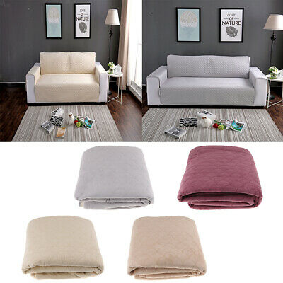 3 Size Non-slip Quilted Furniture Cover Sofa Protector Loveseat Slipcover