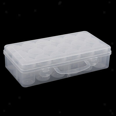 18x Transparent Cosmetic Storage Containers Clear Makeup Screw Lid Small Jar