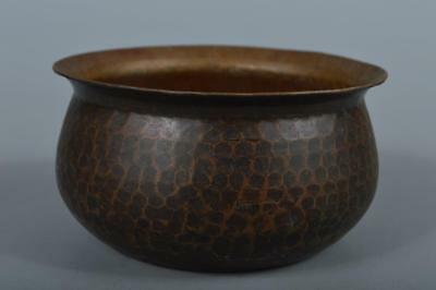 R168: Japanese Old Copper Finish hammer pattern WASTE-WATER POT Kensui