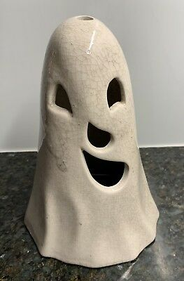 Vintage White Ceramic Ghost Light Shade