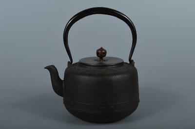 R914: Japanese XF Iron TEA KETTLE Teapot Tetsubin w/copper lid Tea Ceremony