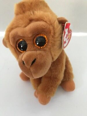 Ty Beanie Babies Monroe Monkey Plush 6 Stuffed Animal Brown Big