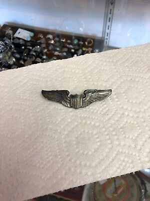 World War ll Air Force Wings Sterling Silver 3""