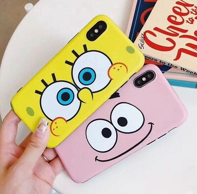 Cartoon Sponge Phone Case Cover Protect For iPhone Xs Max Xr X 8 7 6 6S Plus