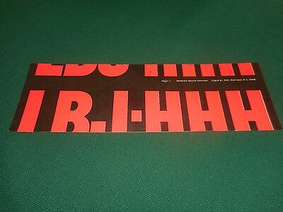 Rare ERROR MISTAKE Presidential Campaign BUMPER STICKER  ~  LBJ Johnson Humphrey