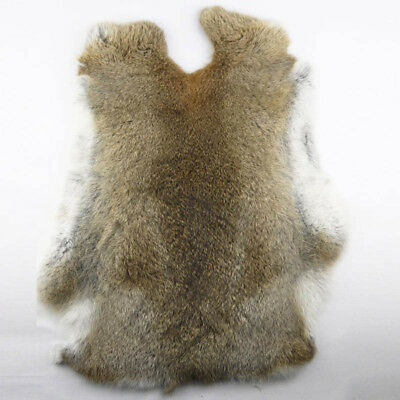 Genuine Naturally Rabbit fur skin tanned Leather Hides craft Gray Pelts Fashion