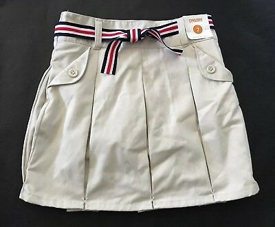 22d5a28ff NWT GYMBOREE Khaki Beige Pleated Skirt Skort Pockets School Uniform Girl's  Sz 7