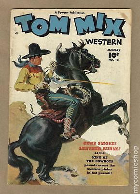 Tom Mix Western (Fawcett) #13 1949 GD+ 2.5