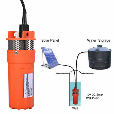 12V Stainless Strainer Submersible Water Pump Solar Deep Well Pump f Irrigation
