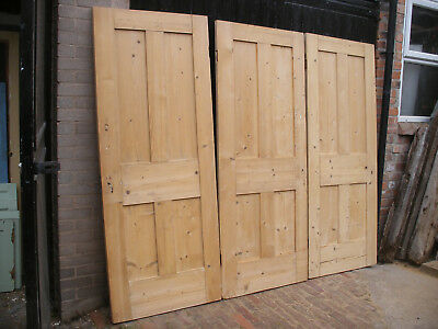 Reclaimed Victorian four panel stripped pine doors.
