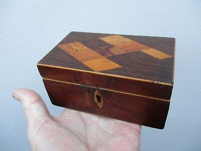 A Victorian Inlaid Rosewood Tunbridge Ware Box c1870