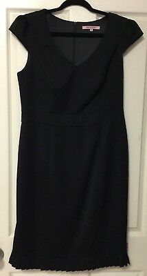 Review Black Capped Sleeve Dress Sz 14 Current Tag Worn Once As New