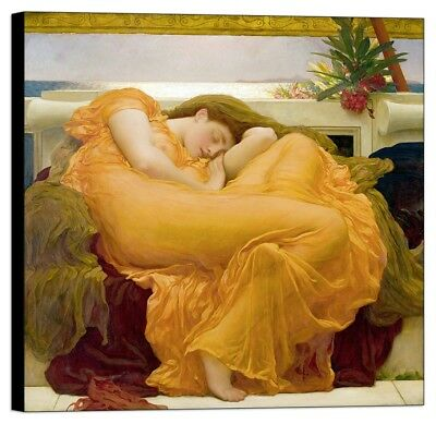 Quadro stampa su pannello in legno mdf Leighton - Flaming June