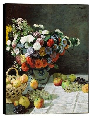 Quadro Stampa su pannello in legno mdf Monet - Flowers and Fruit
