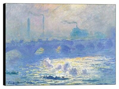 Quadro Stampa su pannello in legno mdf Monet - Waterloo Bridge