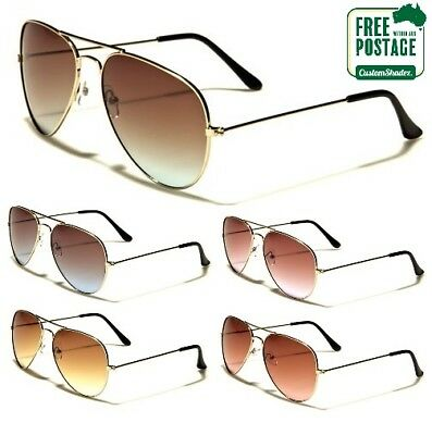 Air Force Aviator Series Sunglasses - Lightly Tinted - Coloured Gradient Lens