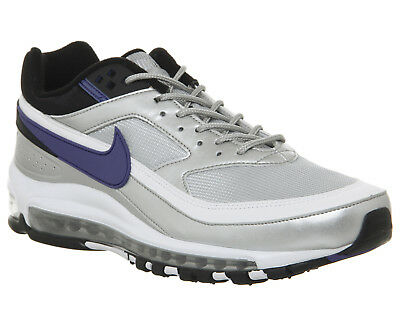 d456152e4275 Nike Air Max 97 BW Metallic Silver Black Violet UK 10 Skepta AO2406-002