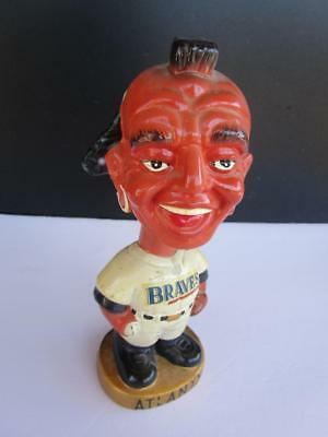 Vintage 1967 Atlanta Braves Indian Mascot Bobble Head Nodder Made in Japan Doll