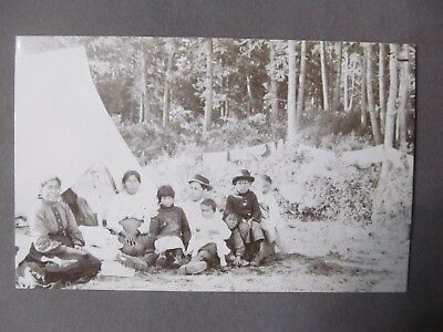 Native American Rppc James Oliver Curwood W/indian Children