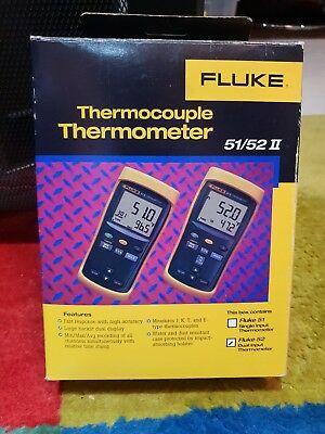 The Fluke 51 Series II contact thermometers