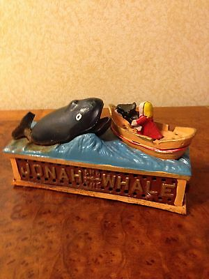 jonah and the whale cast iron bank
