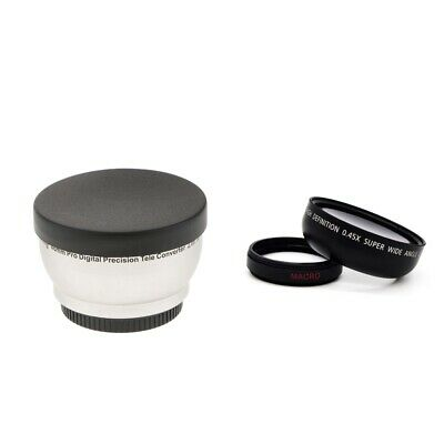 46mm 0.45x Wide-Angle Lens + 2.0x  Lens photo Converter- 46mm Filter