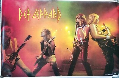 Original 1983 DEF LEPPARD IN Concert Funky Ent. Poster. Free shipping.