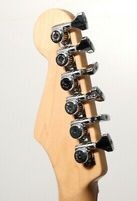 Hipshot CHROME 6-InLine Grip-Lock Non-Staggered Open-Gear Guitar Tuners with UMP