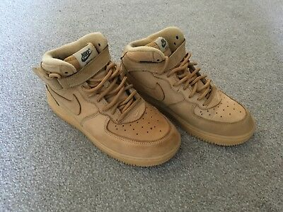 outlet store sale 0b688 94ff8 ... amazon tan suede look nike air force one boots size 2 1faf3 67c60
