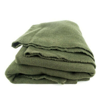 Authentic French Army 100% Wool Blanket olive drab green blanket Free Shipping