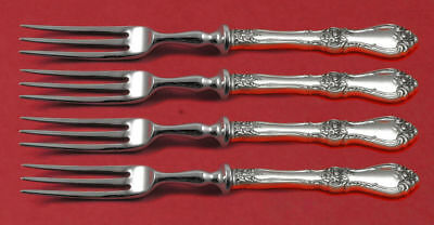 Royal Rose by Wallace Sterling Silver Fruit Fork Set 4-piece Custom Made 6""