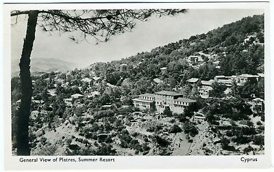 (14) Cyprus Postcard View Of Platres Publisher Avedissian Year 1950's