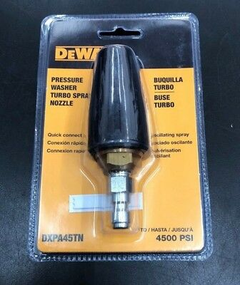 NEW DeWalt DXPA45TN Pressure Washer Turbo Spray Nozzle up to 4500 PSI