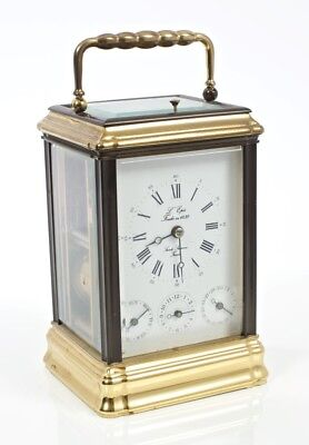 Stunning L'epee Gorge Complication Carriage Clock with Original Face & Key