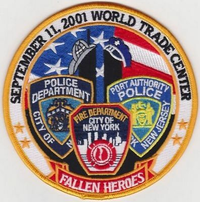 """Fallen Heroes Sept 11 2001 World Trade Center Twin Towers 5"""" Round"""