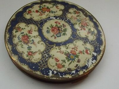 Vintage Stratton Compact Floral-1930-1940s